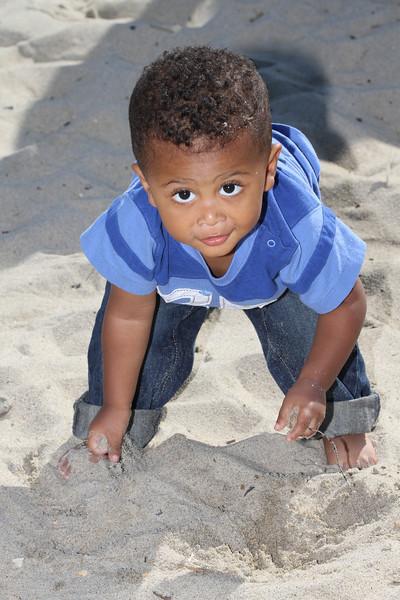 Jackson & Bryant at the Beach