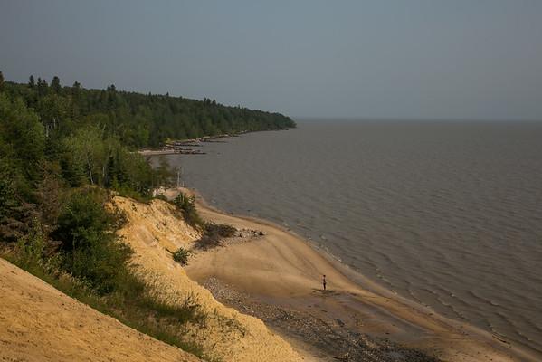 The Cliffs near Victoria Beach, Mb