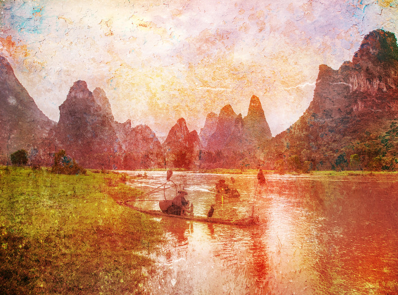 Textures of the Li River