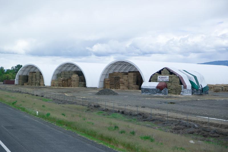 Hay Barns Near Ellensburg, WA