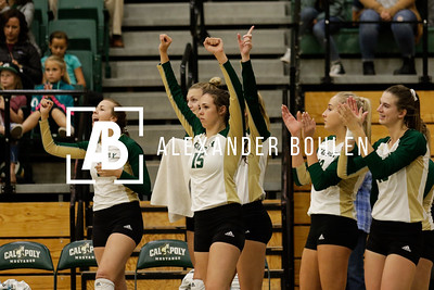 2017 Cal Poly Volleyball vs UCSB