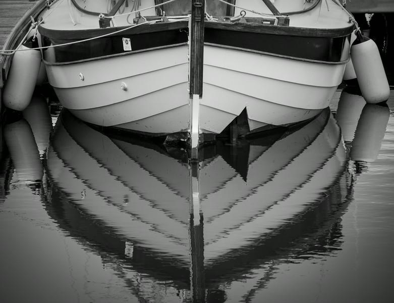 Clinker built boat Chichester Harbour