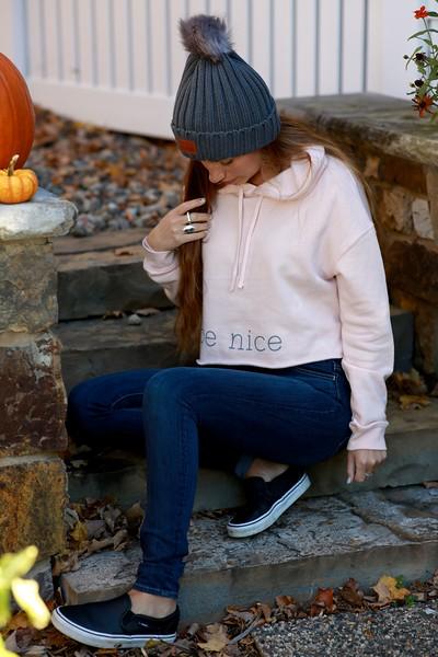 Pink Cropped Sweatshirt on steps 4P7A8163.jpg