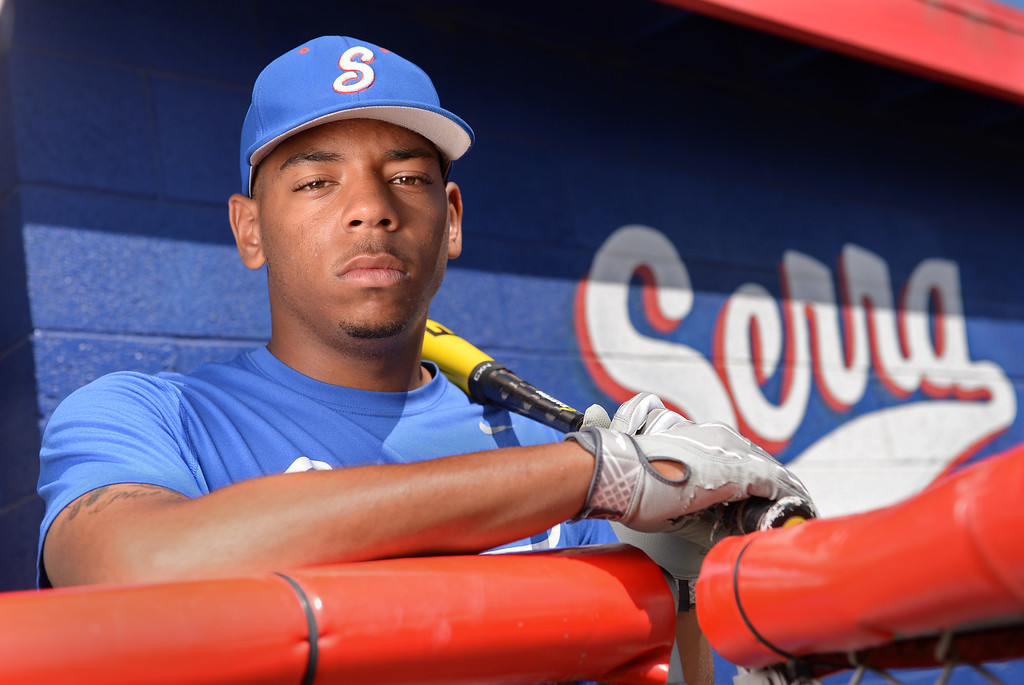 . Dominic Smith,  SERRA High School baseball first baseman and Daily Breeze Player of the Year. Photo by Brad Graverson 05-30-13