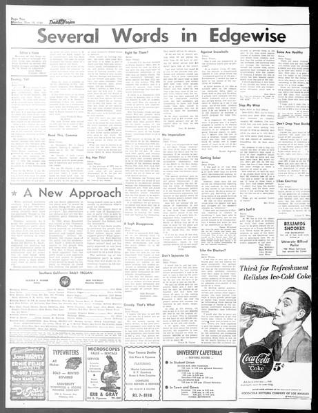 Daily Trojan, Vol. 40, No. 45, November 15, 1948