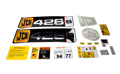 JCB 426S SERIES BONNET DECAL SET