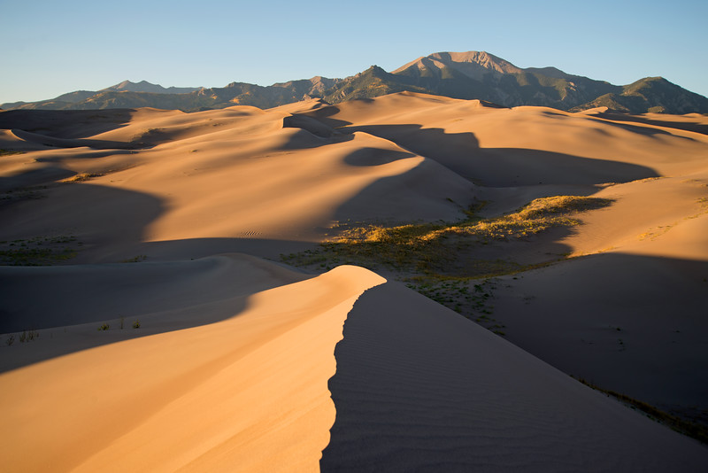 Sunset over the Great Sand Dunes in southern Colorado.