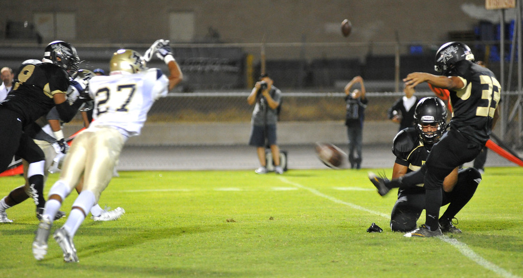 . Northview plays Rowland in their non-league game at Covina District Field in Covina on Friday September 13, 2013. Northview beat Rowland 28-0. (San Gabriel Valley Tribune/Staff Photo by Keith Durflinger)