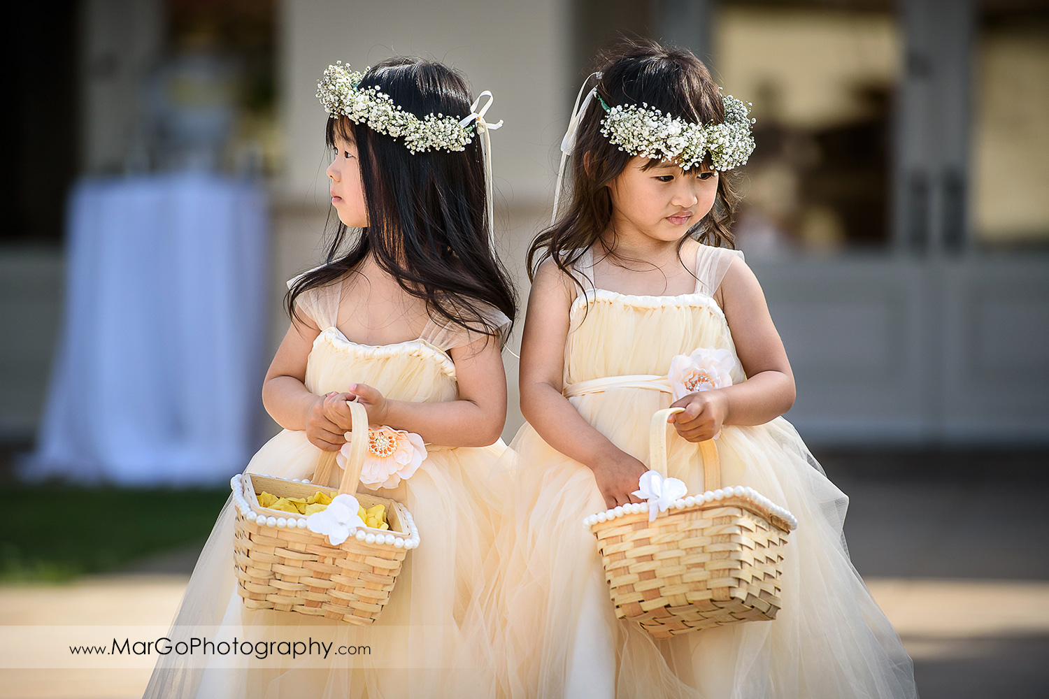flower girls at the Club at Ruby Hill in Pleasanton