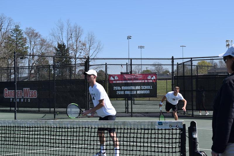 Gardner-Webb Men's Tennis Match