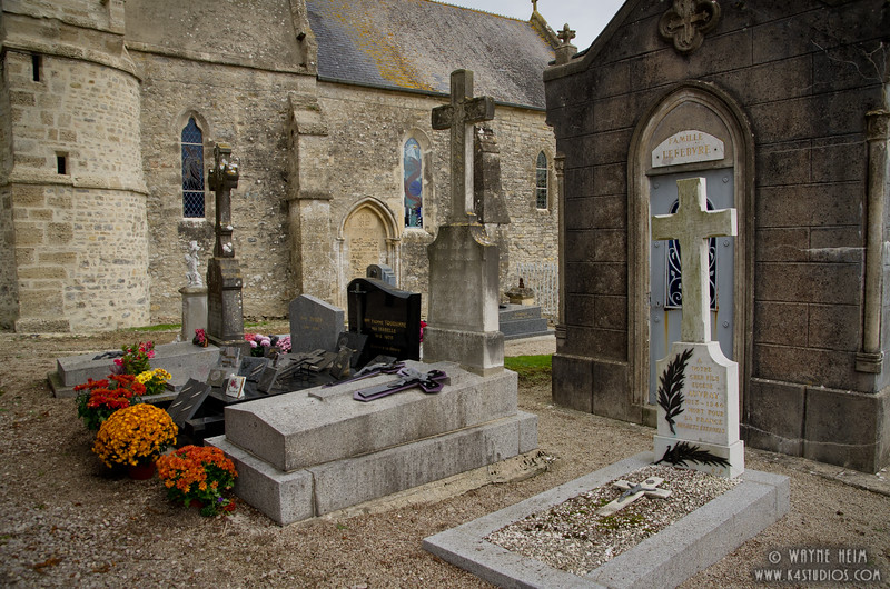 Graveyard in Normandy  Photography by Wayne Heim