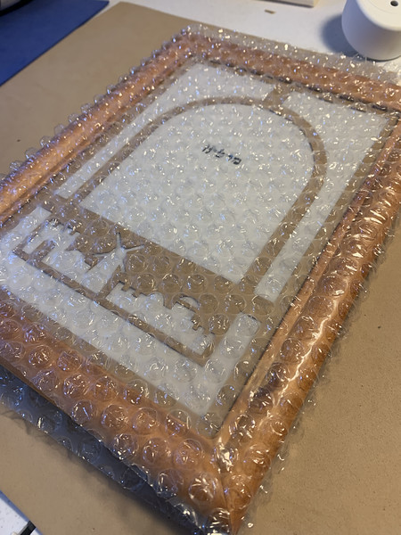 bubble-wrapped for shipping