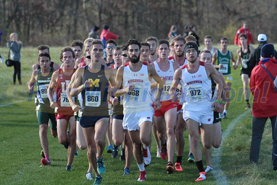 Men at 4 mile mark - 2016 NCAA D1 XC Great Lakes Regional