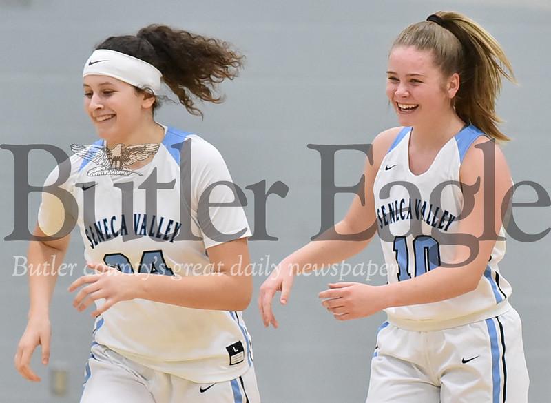Seneca Valley vs Butler in a section girls basketball game at Seneca Valley High School