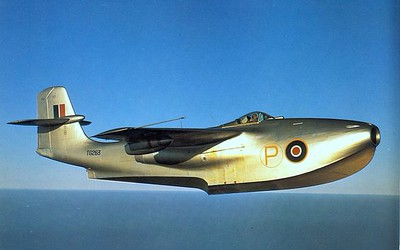 The WWII Saunders-Roe seaplane jet fighter, was the fastest jet seaplane in the world