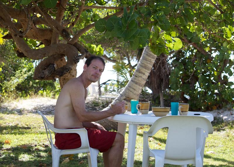 Breakfast under the sea grape tree