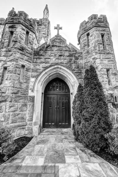 All Saints Chapel Sewanee Cross BW.jpg