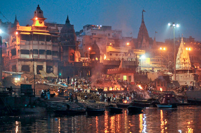 Funeral fires of Varanasi, India