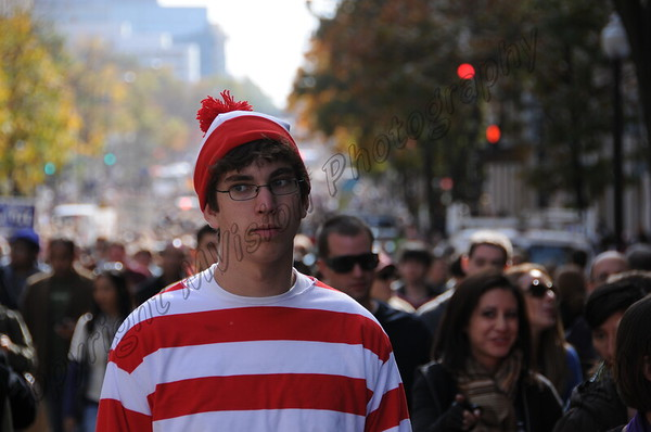 Where's Waldo at the RESTORE SANITY RALLY IN DC