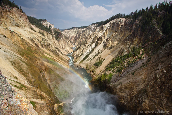 from the top of the Lower Falls, Yellowstone National Park