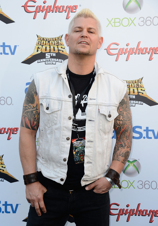 . Musician Billy Graziadei arrives at the 5th Annual Revolver Golden Gods Award Show  at Club Nokia on May 2, 2013 in Los Angeles, California.  (Photo by Frazer Harrison/Getty Images)