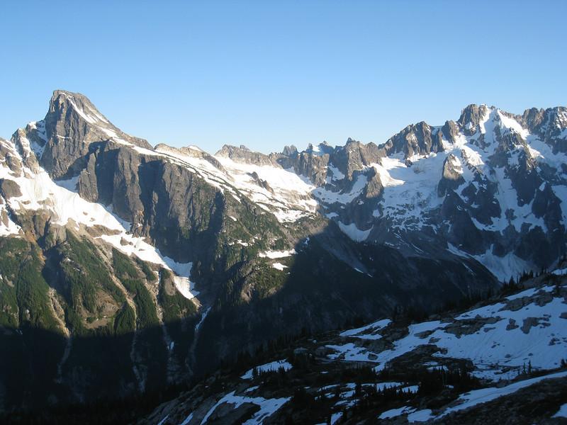 Luna Peak on left, with Fury on right.
