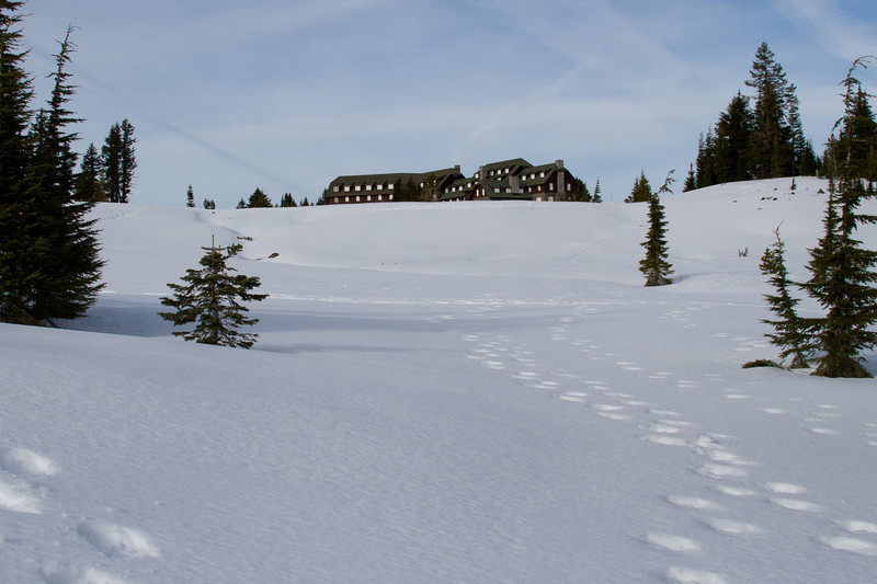 Crater Lake snowshoeing