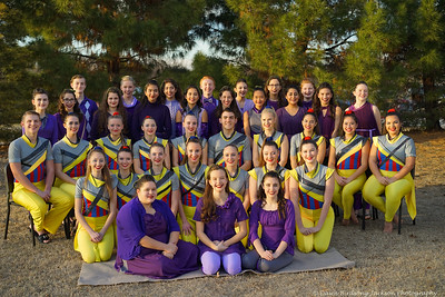 Winter Guard Varsity and JV Group photo, February 17, 2018