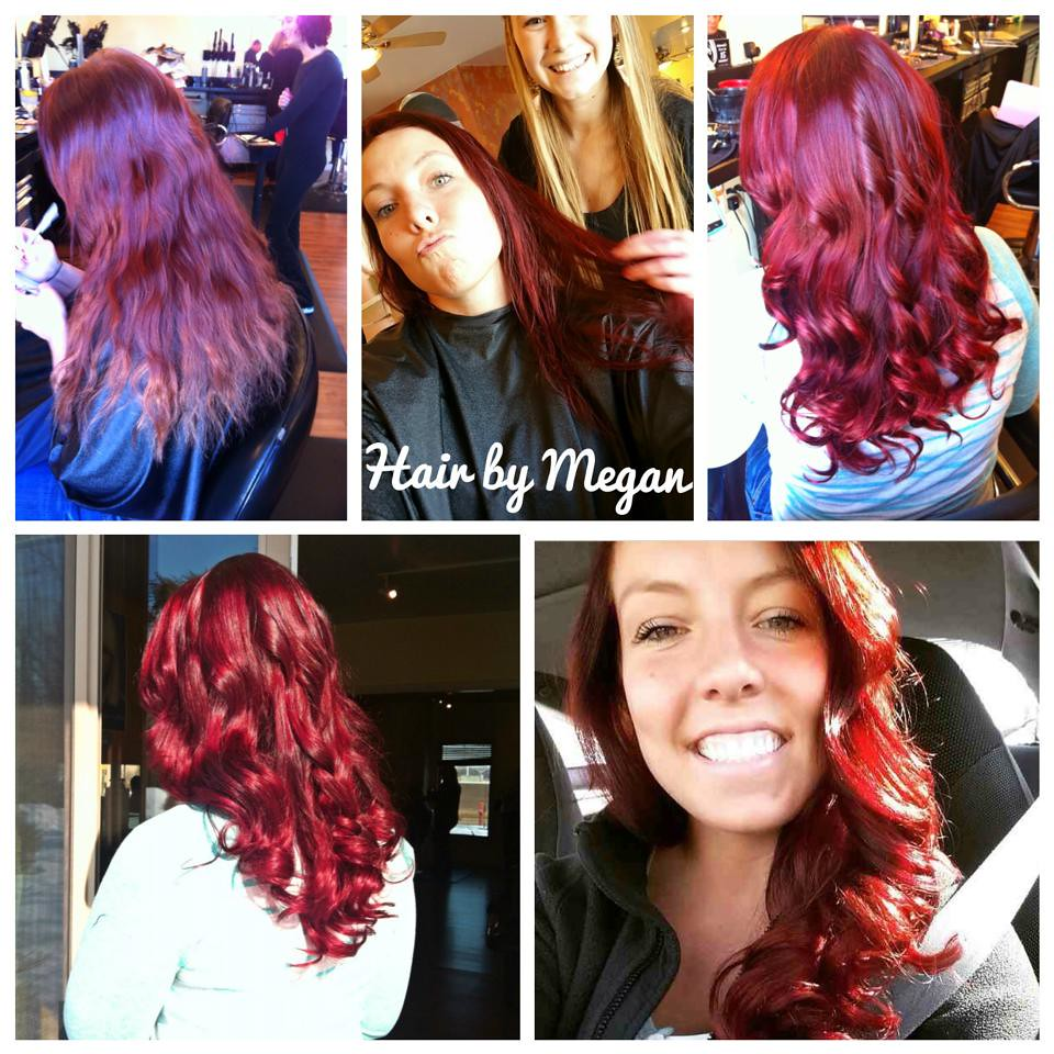 Megan rocks up the red on this beauty!