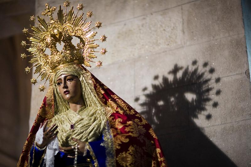 Virgin Mary, Santiago church, Caceres, Spain