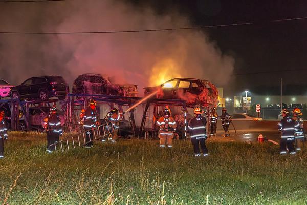 Maywood NJ working truck fire, Rt.17 S/B, 7-4-19