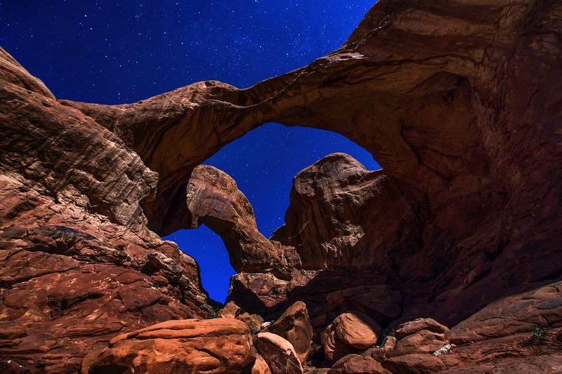 Stars Through Double Arch