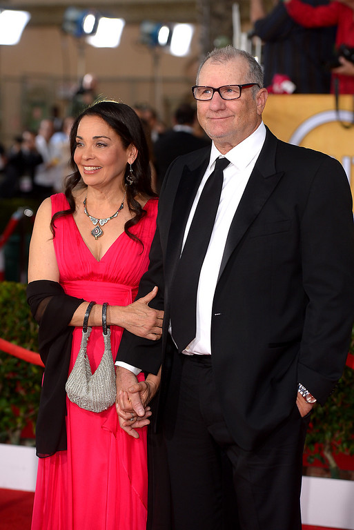 . Ed O\'Neill and guest arrives at the 20th Annual Screen Actors Guild Awards  at the Shrine Auditorium in Los Angeles, California on Saturday January 18, 2014 (Photo by Michael Owen Baker / Los Angeles Daily News)