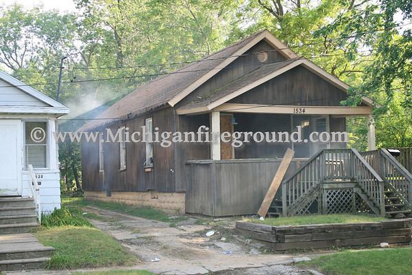 7/30/11 - Flint basement fire, 1534 Belle Ave