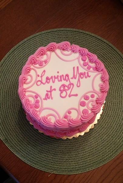 Lovely cake to celebrate Mom's birthday!