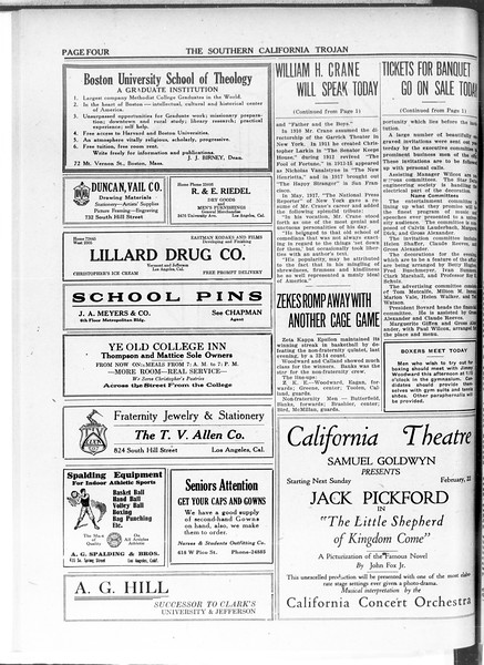 The Southern California Trojan, Vol. 11, No. 57, February 20, 1920