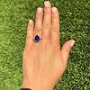7.00ctw Tanzanite and Diamond Halo Ring 6