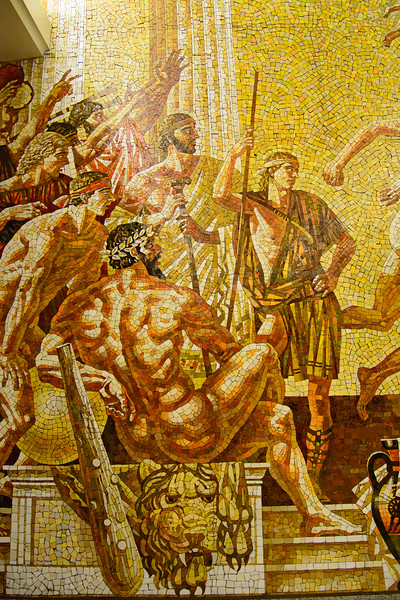 St Petersburg Subway  really, very nice mosaics..