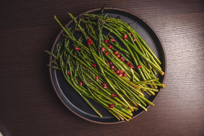broccolini with pomegranite