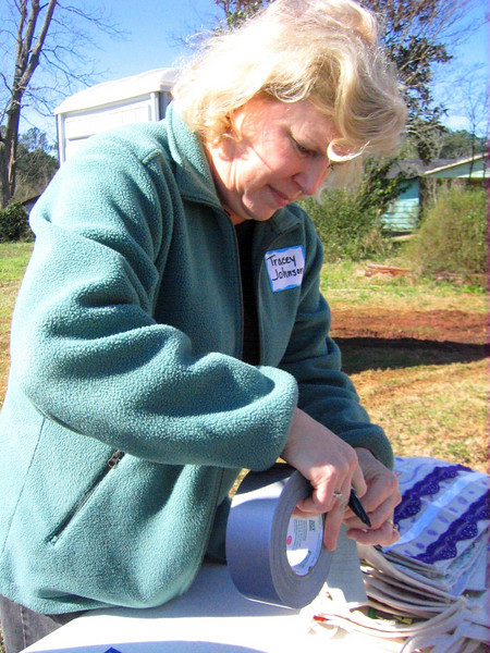 08 03-10 Tracy Johnson, a tireless volunteer for CFCP, coordinates meals, lodging and various activities for out-of-town volunteers. lcf