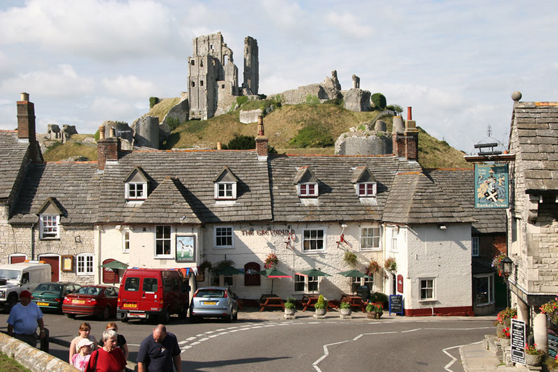 I'm in England now!  Corfe Castle on the south coast of England.