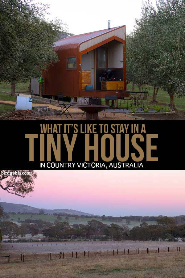 Shacky is an enterprise which sets up tiny, self-sufficient and eco-friendly houses in farms around the Victorian countryside - providing city dwellers and travellers with the opportunity to check out areas of the state which may fly under the radar. This is what it's like to have a weekend getaway in one of these cosy little homes. / #Australian Travel Tips / #VIC / #Glamping / #TinyHouse / #SustainableTravel / Unique and Quirky Accommodation in Australia /