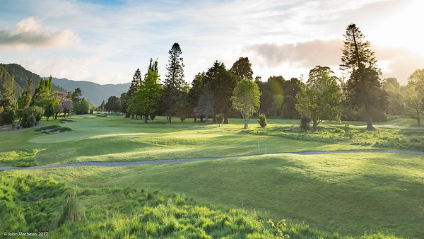Photo of the 15th hole at Royal Wellington Golf Club immediately prior to the hosting of the Asia-Pacific Amateur Championship tournament 2017 held in Heretaunga, Upper Hutt, New Zealand in late October 2017. Copyright John Mathews 2017.   www.megasportmedia.co.nz