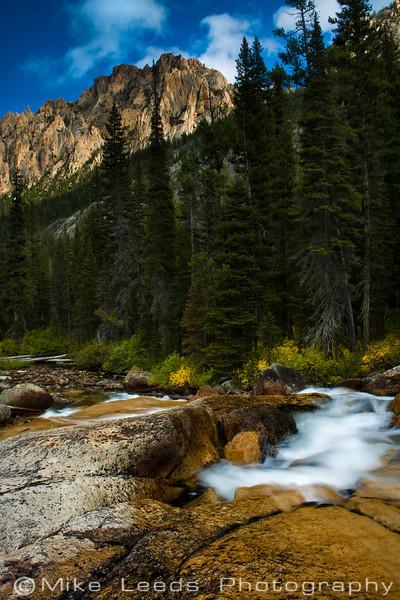 Redfish Lake Creek in the Sawtooth Mountains, Idaho.