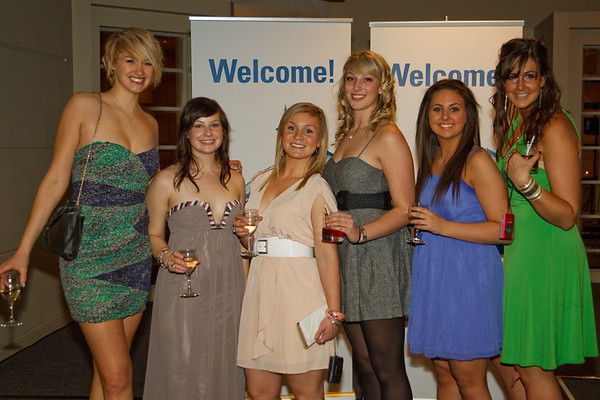 Volleyballers at the Athletics Banquet 2010