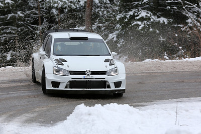 VW Polo WRC en tests Monte-Carlo 2013