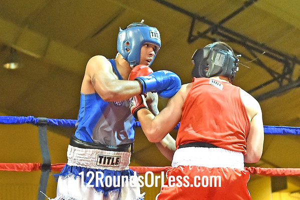 Bout 13 Chris Young(Blue Gloves), Lights Out BC -vs- Keith Fairchild(Red Gloves), King's Gym, 178 lbs, Novice