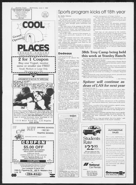 Summer Trojan, Vol. 101, No. 3, June 04, 1986