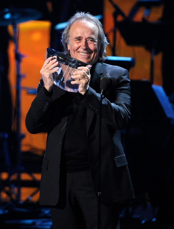 . Joan Manuel Serrat accepts the award for person of the year at the 15th annual Latin Grammy Awards at the MGM Grand Garden Arena on Thursday, Nov. 20, 2014, in Las Vegas. (Photo by Chris Pizzello/Invision/AP)