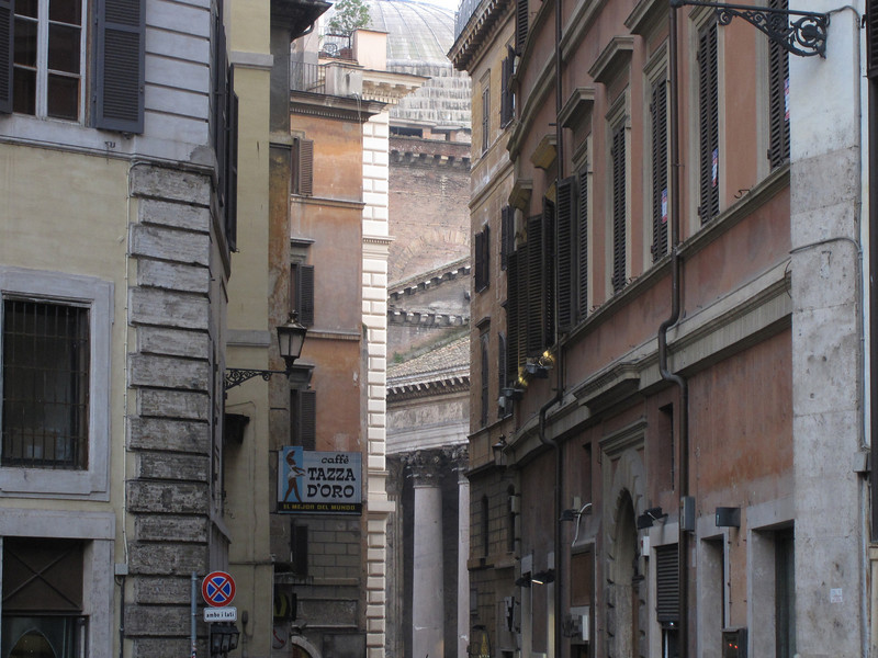 Small alleys and buildings in Rome, Italy